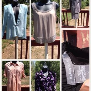 Lot of 7 size Large occasion outfits